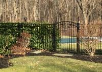 Black Aluminum Arch Gate-2