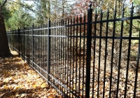 Black Aluminum Fence with Finials