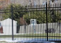 Black Aluminum Finials Fence