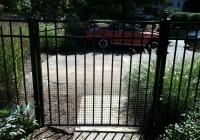 Black Aluminum Gate with Dog Guard 2