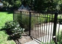 Black Aluminum Gate with Dog Guard
