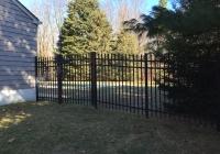 Black Aluminum Industrial Fence