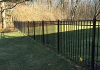 Black Aluminum Three Rail Fence