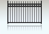 101 Aluminum Fence With Rings