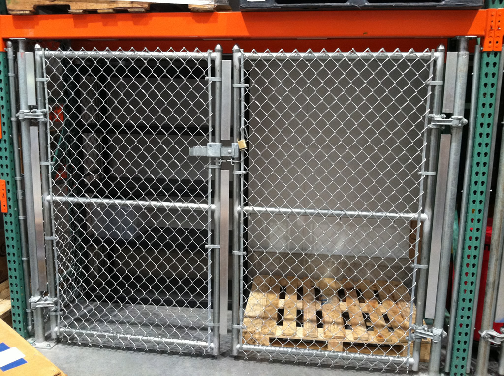 Chain link fence in commercial mercial