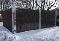 Dumpster Enclosure with PVT Inserts