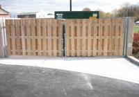 Cedar Board on Board Garbage Enclosure
