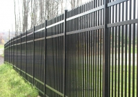Black Aluminum Municipal Fence