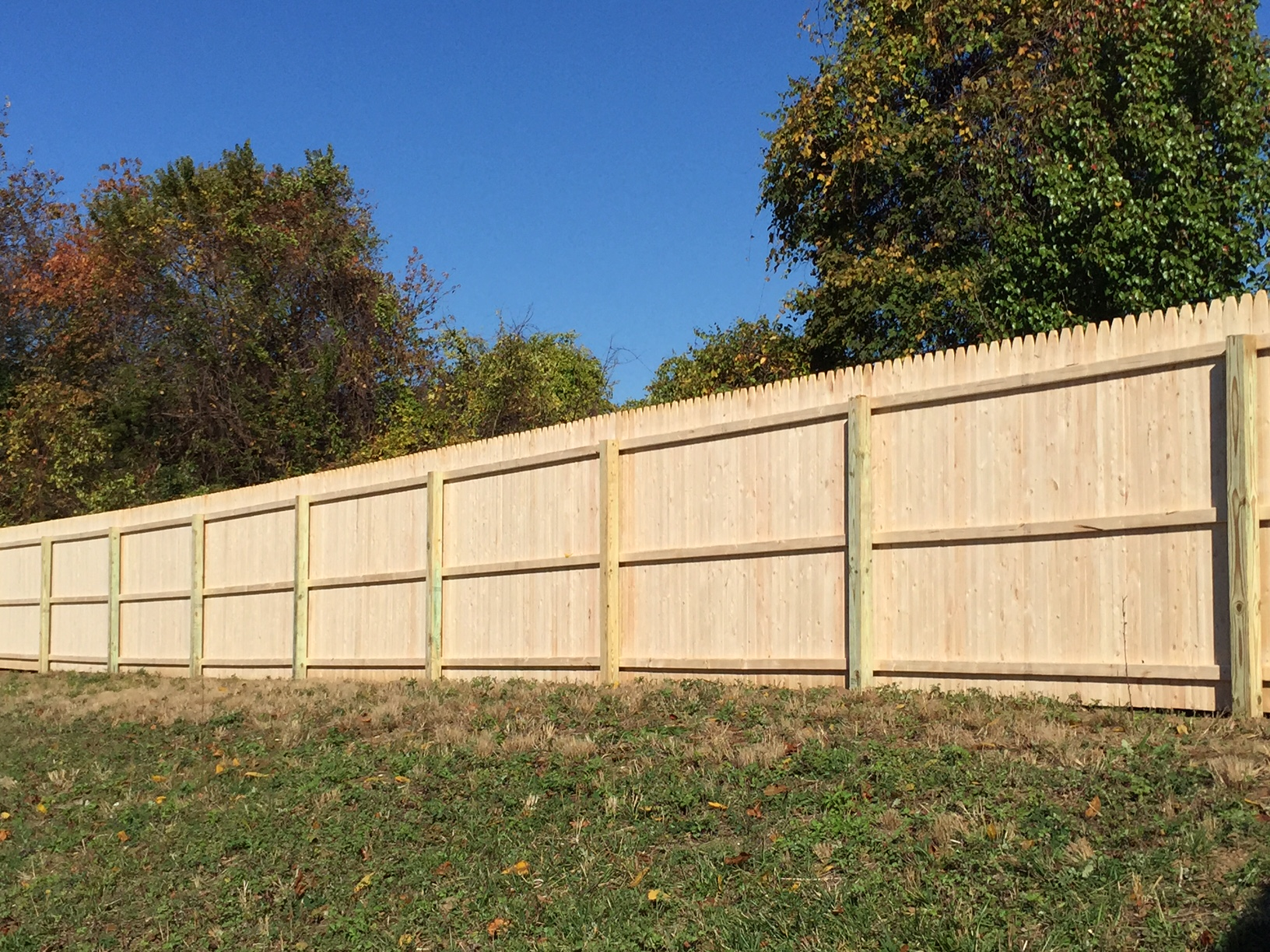 Wood fencing add a link fence company nj fence contractor spruce stockade fence baanklon Gallery