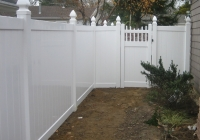White PVC with Gothic Posts