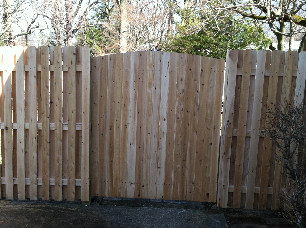 Wood fencing add a link fence company nj fence contractor cedar solid crown gate bob dog ear baanklon Gallery