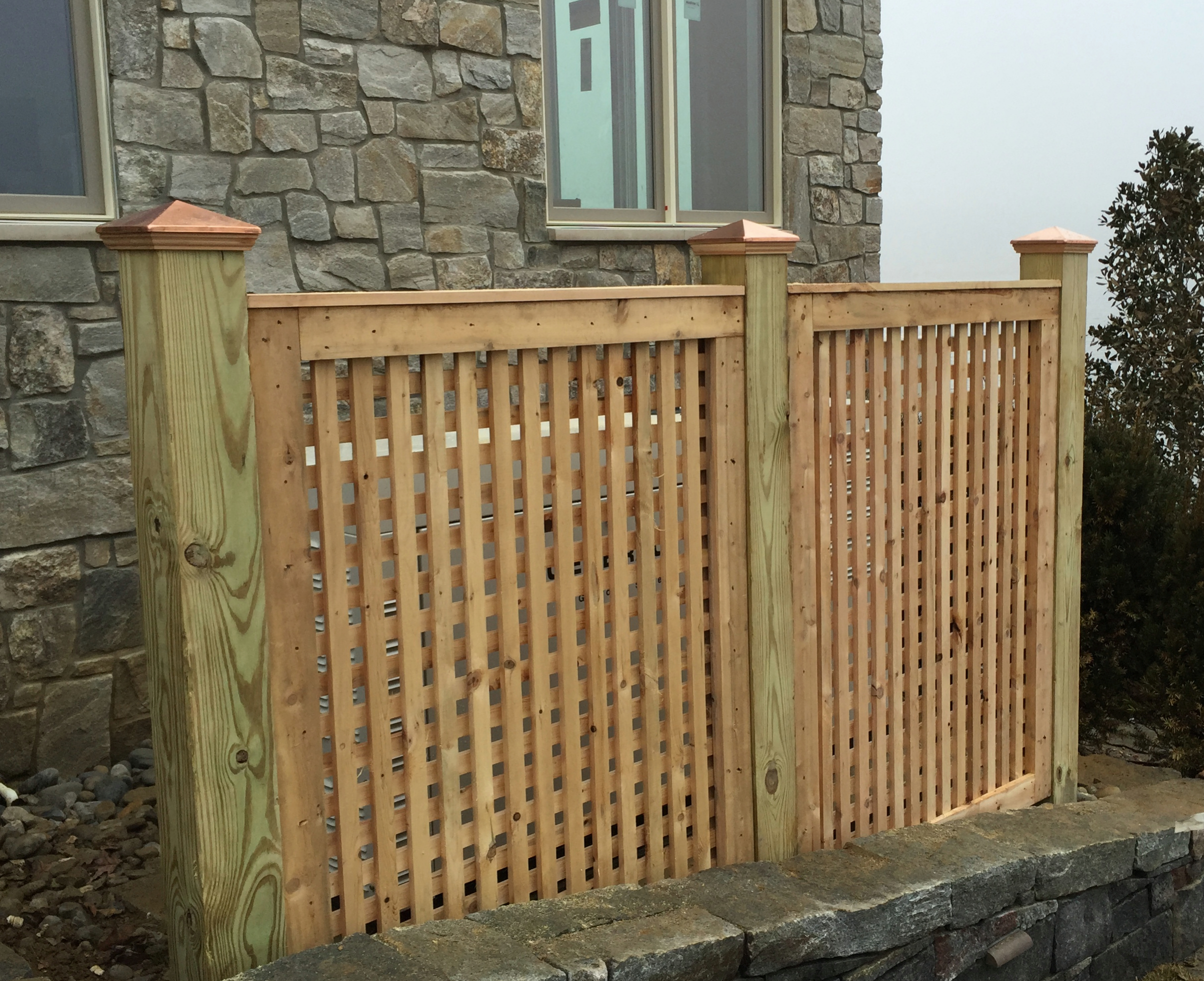 Wood fencing add a link fence company nj fence contractor for Using lattice as fencing