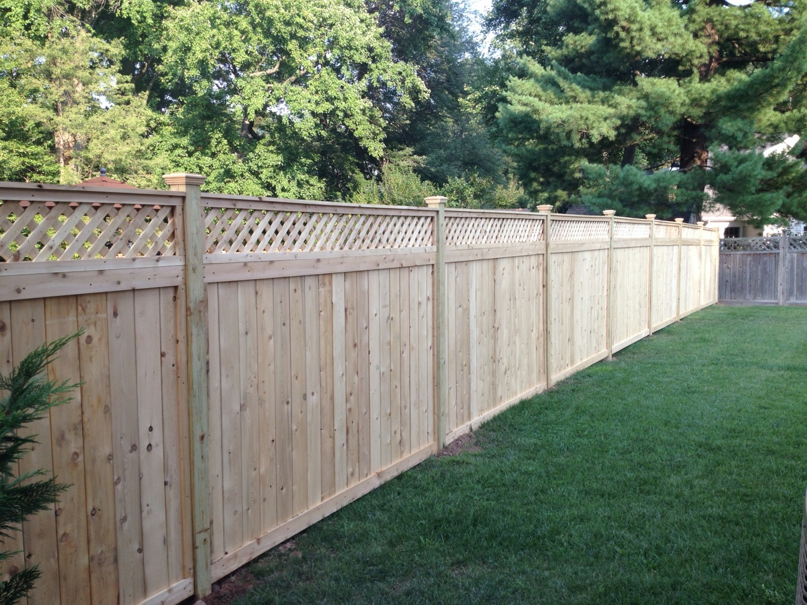 Wood fencing add a link fence company nj fence contractor lattice top cedar fence baanklon Choice Image