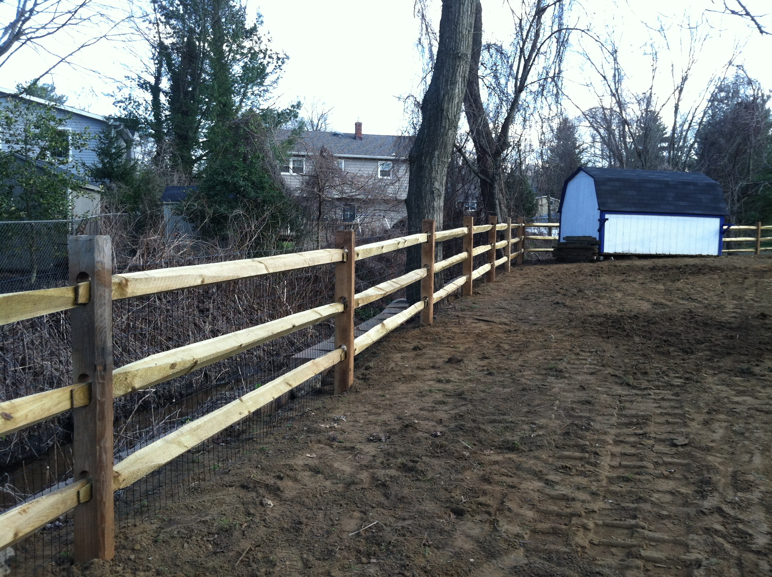 Wood fencing add a link fence company nj fence contractor split rail with welded wire baanklon Gallery