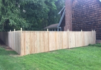 Cedar Fence with Gothic Points
