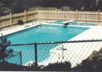 Cedar Gothic Point Pool Code Fence