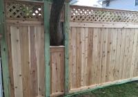 Cedar Lattice Top Fence Around a Tree