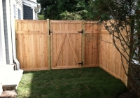 WHITE CEDAR TONGUE AND GROOVE GATE