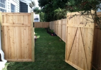 WHITE CEDAR TONGUE AND GROOVE FENCE