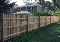Custom Wood Space Picket Fence