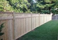 Lattice Top Cedar Fence