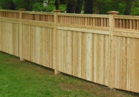 WHITE CEDAR TONGUE AND GROOVE FENCE WITH SPINDLE TOP