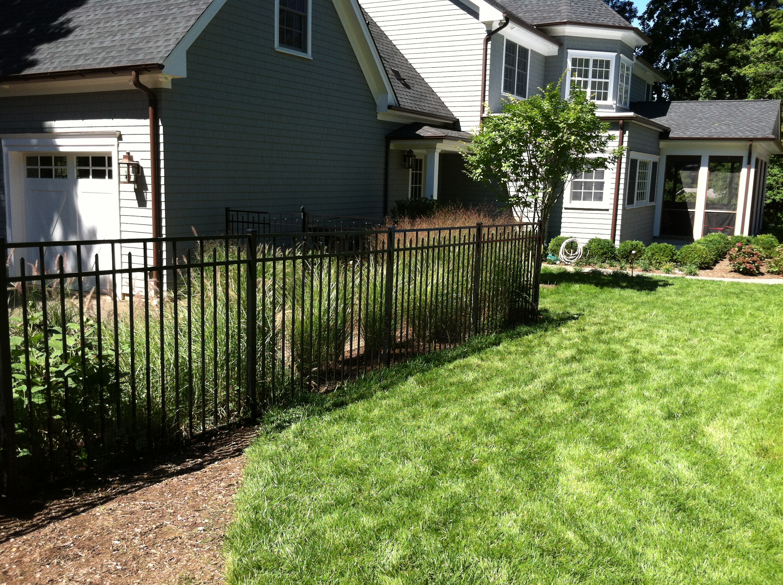 Black Aluminum Three Rail Fence