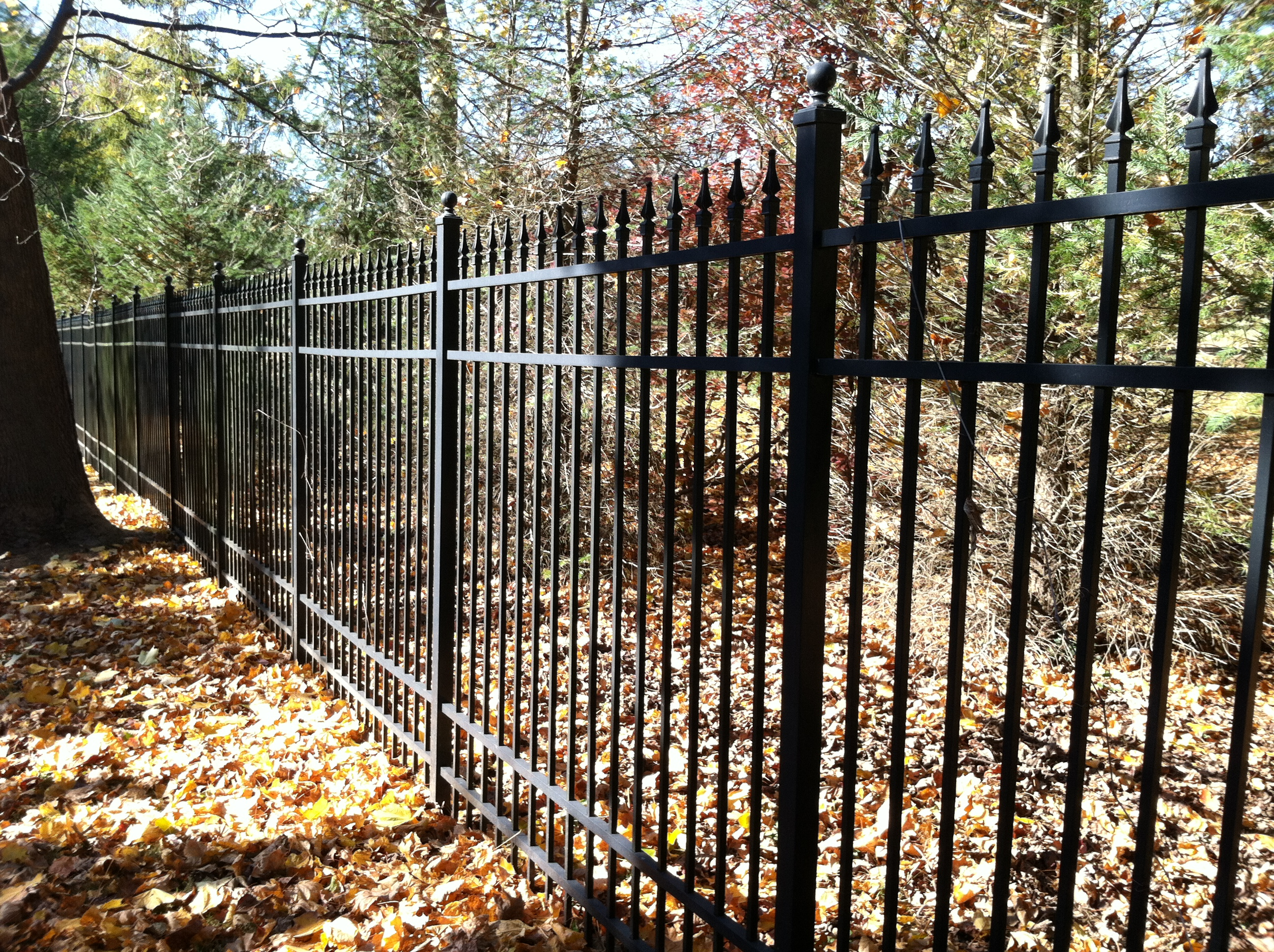 Black aluminum fence nj company located in