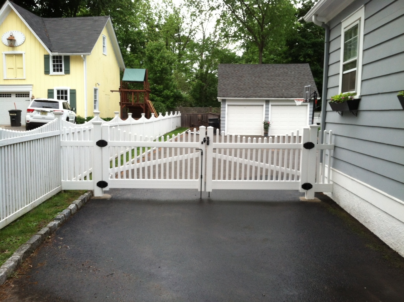White PVC Drive Gates