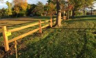 Two Rail Split Rail Fence