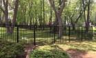 3 Rail Black Aluminum Fence