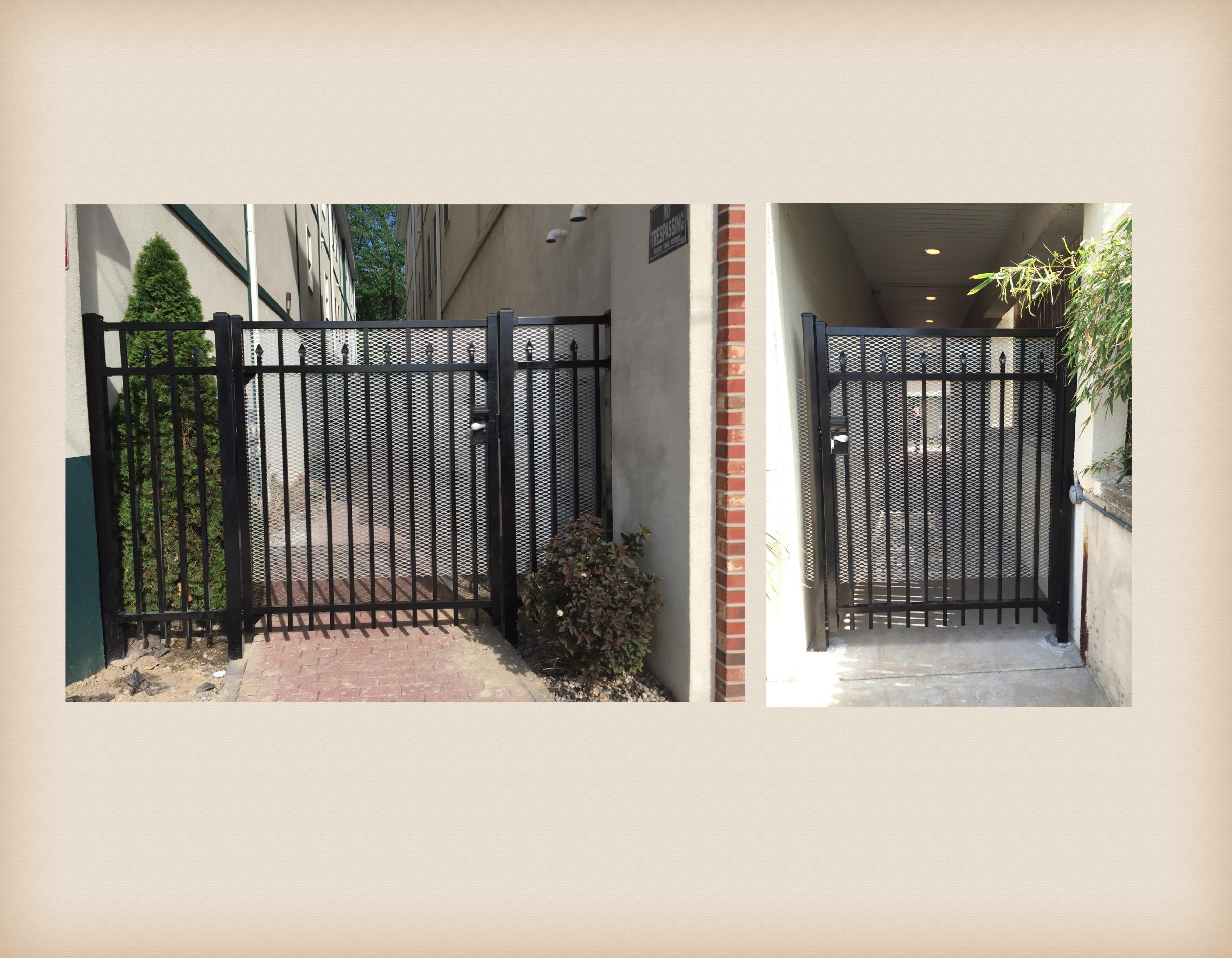 Aluminum security gate