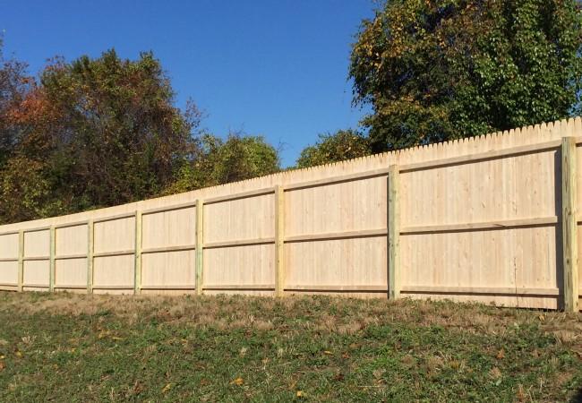Spruce Stockade Fence