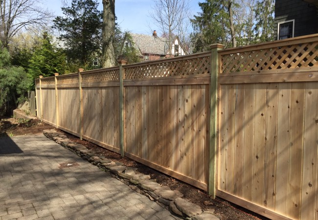 Cedar Lattice Top Fence