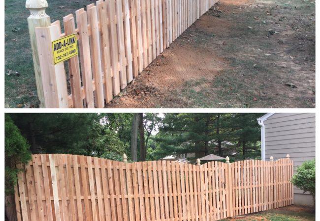 Board on Board Convex Fence