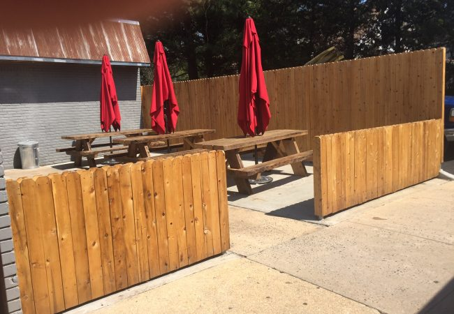 Custom Cedar Fence Wall