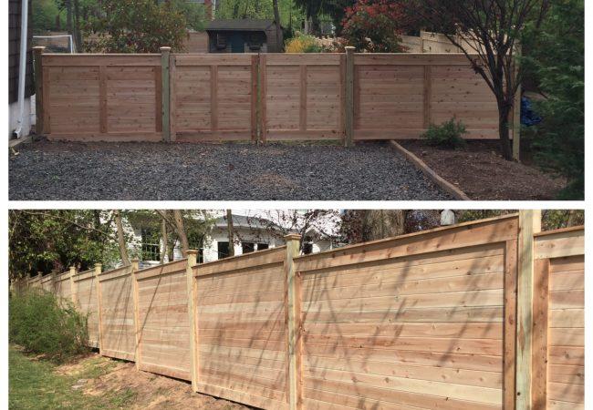 Horizontal Board Cedar Fence