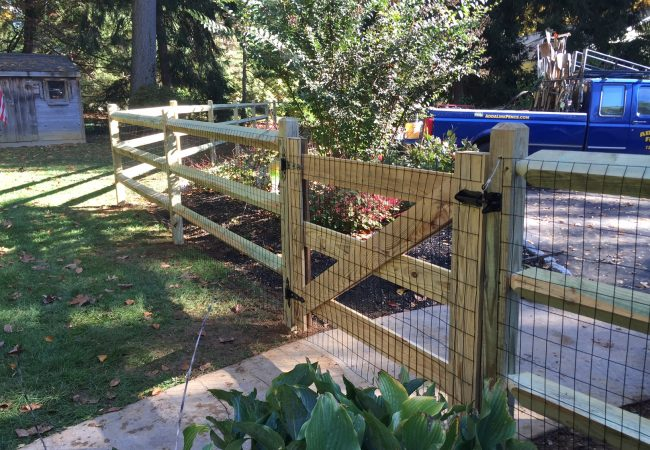 Doweled Post and Rail Fence