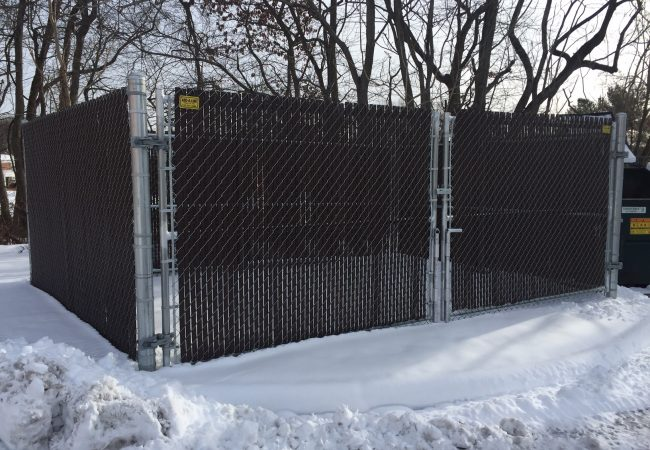 Chain Link Dumpster Enclosure