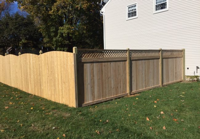 Solid Cedar with Tongue and Groove Fence