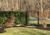 Black Aluminum Arch Gate-2
