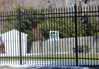 Black Aluminum Finials Fence