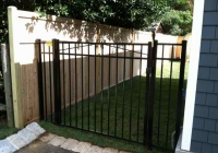 Black Aluminum Gate