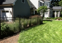 Black Aluminum Fence with Dog Guard