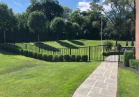 Jerith-Ovation-Aluminum-Fence-with-Rainbow-Double-Gate