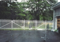 White Aluminum Drive and Walk Gates