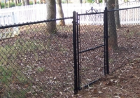 Black Vinyl Chain Link Gate