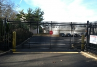 Black Aluminum Industrial Cantilever Gate copy