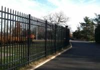 Black Aluminum Industrial Fence