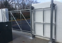 Chain Link Cantilever Gate